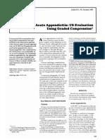 puylaert1986 Acute Appendicitis US Evaluation using graded compression