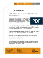 SP500 2009 Global Sales