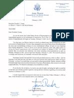 President Trump Letter