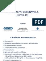 Manejo de Casos Suspeitos de Sindrome Respiratoria Pelo COVID 19