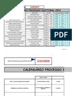 Calendario Processo Eleitoral CIPA 2021- Morumbi