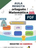Aula 05-02 Português & Matemática