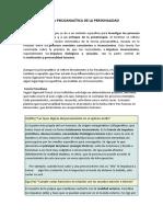 TEORÍA PSICOANALÍTICA DE LA PERSONALIDAD- 4to sec