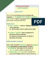 Scheda grammaticale verbi causativi