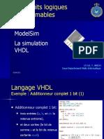 La Simulation VHDL_ModelSim