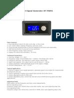 Manual Gerador PWM XY-PWM1