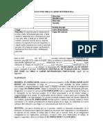 Circular 13 Modelo de Contrato Por Obra o Labor Determinada Nuevo (Acoset)
