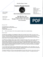 House Legislative Ad Hoc Committee letter to DHEC