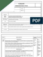 Planeación FCYE 3° secundaria I trimestre 3