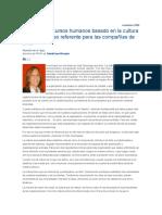 Modelo de recursos humanos basado en la cultura del compromiso