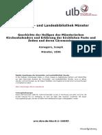 Geschichte der Heiligen des Münsterischen Kirchenkalenders und Erklärung der kirchlichen Feste und Zeiten und deren Cäremonien