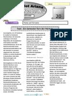 Devoir de Synthèse N°2 Lycée pilote - Allemand - Bac Toutes Sections (2004-2005) Mr Hnia Anis