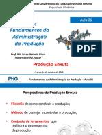 Fundamentos Administração da Produção - Aula 06