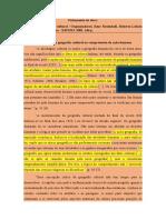 FICHAMENTO - MATRIZ. DA GEO. CULTURAL