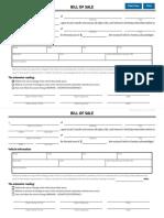 Sample bill of sale template