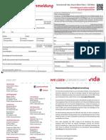 Vida-Mitgliedsanmeldung Normales PDF