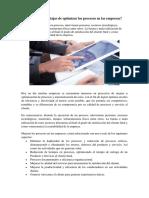 Cuáles Son Las Ventajas de Optimizar Los Procesos en Las Empresas Tema2