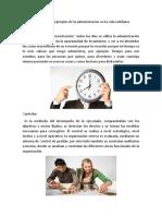 15 ejemplos de la administracion en la vida cotidiana