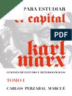 Para Estudiar El Capital T1
