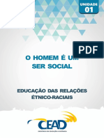 RELACOES ETNICO-RACIAIS - UNIDADE 1 - O HOMEM É UM SER SOCIAL