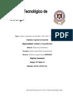 CUADRO COMPARATIVO DE LAS  NORMAS ISO
