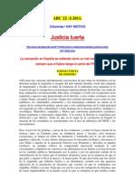 EDITORIAL ABC 22-2-2011 Justicia Tuerta