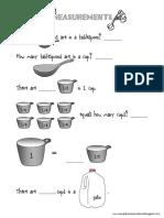 Measurement Equivalents Worksheet
