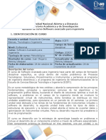 Syllabus Del Curso Software Avanzado Para Ingeniería
