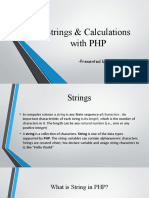 Strings & Calculations With PHP