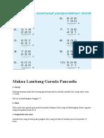 Penjumlahan bilangan cacah tanpa teknik menyimpan dan Makna Lambang Garuda Pancasila