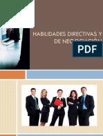 Habilidades Directivas y de Negociación