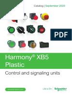 schneider Catalog of Harmony XB5 plastic control and signaling units - English 09-2020