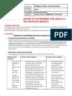 481300706 Module 7 3 Branches of Government Article 6 Legislative Branch PDF