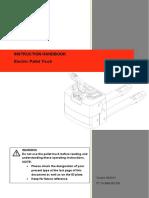 Electric Pallet Jack Instruction Handbook