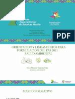 Salud Ambiental Lineamientos 2021