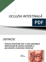 OCLUZIA INTESTINALĂ