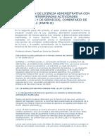 LA SUPRESIÓN DE LICENCIA ADMINISTRATIVA CON RELACIÓN A DETERMINADAS ACTIVIDADES COMERCIALES Y DE SERVICIOS