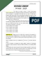 Revisão UNESP 2021 (Aula 01) - Professor Jazz