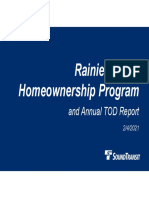 Sound Transit - February 2020 - Annual TOD Report & Motion No. M2021-08 Rainier Valley Real Property Transfer to City of Seattle Presentation