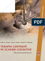 Jeffrey E. Young, Janet S. Klosko, Marjorie E. Weishaar - Terapia Centrată Pe Scheme Cognitive. Manualul Practicianului