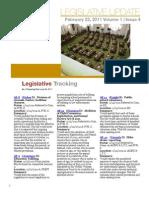 CALCASA Legislative Update 02/22/11