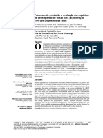Processos de Produção e Avaliação de Requisitos de Desempenho de Tintas Para a Construção Civil Com Pigmentos de Solos