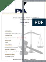 Tarea II de Práctica Jurídica  I