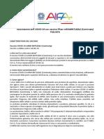FAQ-Vaccinazione Anti COVID-19 Con Vaccino Pfizer