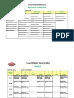 Calendario de Planificación Gerente