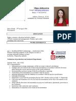 CV Alekseeva Olga