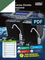 Osmosi Inversa Diretta o Microiltrazione Sottolavello, 3 vie, 90lt/h (ITA)