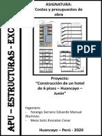 8.1. Apu Estructuras -Con Excel