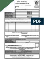 ST-02 Formato de Solicitud de Garantías