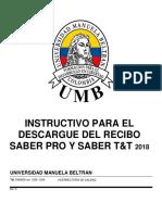 Instructivo para descarga del recibo de pago-SABER PRO 2018